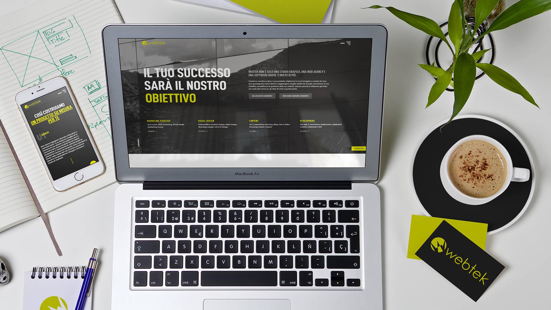 Webtek progetta e sviluppa siti web professionali e ottimizzati per i motori di ricerca