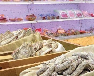 Spaccio vendita di salumi a Piantedo in Valtellina