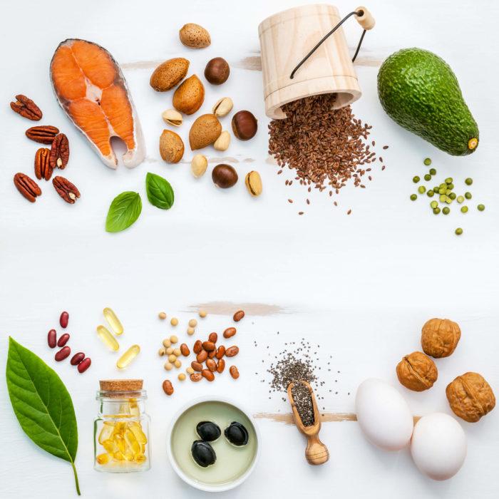 Alimenti con grassi saturi e insaturi