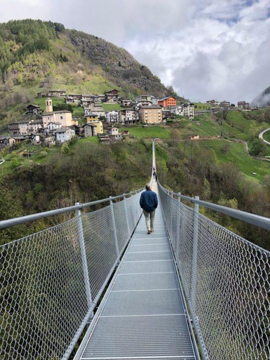 ponte nel cielo - ponte tibetano in Valtellina a Tartano