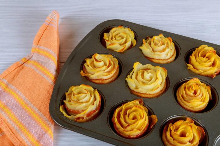 rose di patate con pancetta affumicata - ricetta veloce