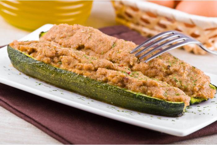 zucchine a barchetta ripiene di prosciutto cotto Menatti - ricetta
