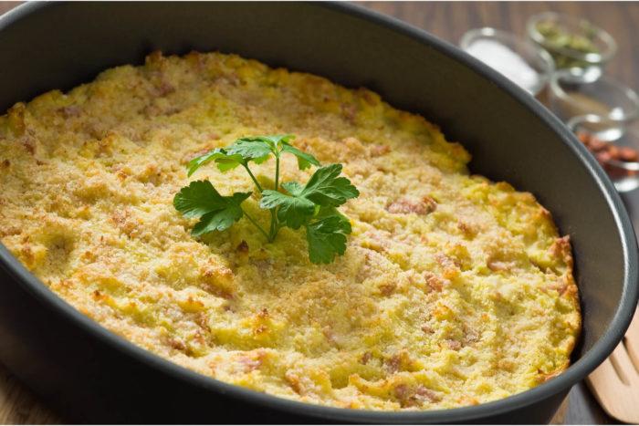 sformato di patate e zucchine con mortadella Menatti - ricetta